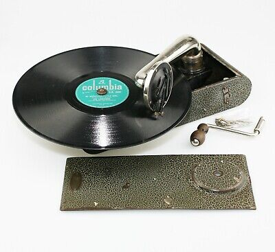 Swiss THORENS Excelda Portable Gramophone / Phonograph Record Player (AA92)