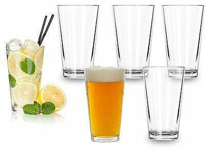 Classic Premium Beer Glasses 16 Ounce – Set Of 6 Pint Highball Cocktail Mixing