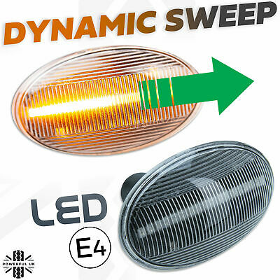LED DYNAMIC sweep side indicator repeater flasher fits Mini 2001-06 R50 R52 R53
