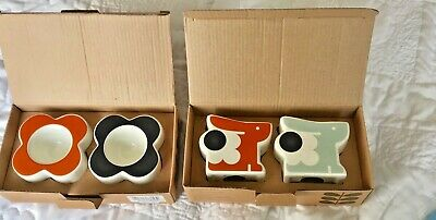 Two Sets Of Orla Kiely Egg Cups Bnib Abacus Flower And Rabbit