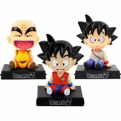 Dragon Ball Z Son Goku Krillin Bobble Head Phone Holder Action Figure Shake Head