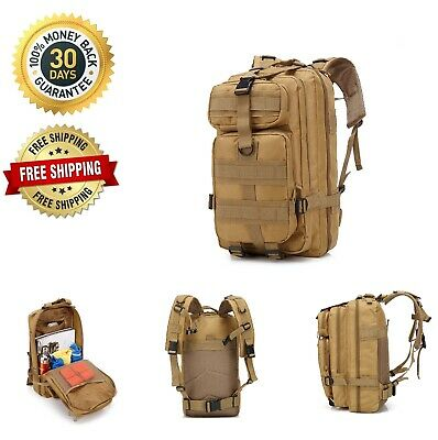 3D 30L Outdoor Sport Military Tactical Backpack Rucksack Bag Camping Traveling