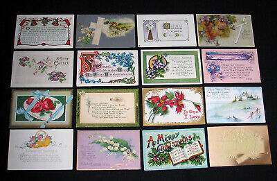 Lot A59 : 16 Cpa British Fantasy Embossed New Art Modern-Style Postcard 1900