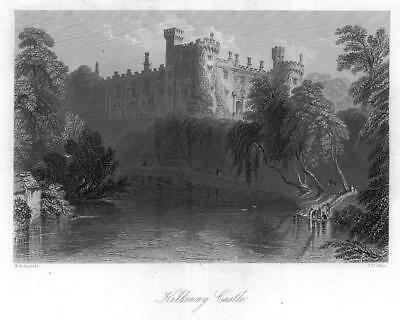 1840 IRELAND - Antique Print View of KILKENNY CASTLE River Nore (20)