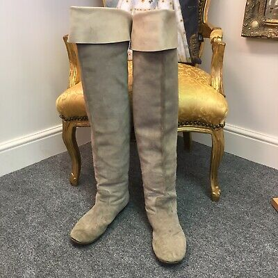 """""""Anello & Davide"""" Mens Medieval Style Thigh Boots U.K.Size 8 Very Unusual Items"""