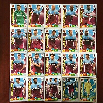 Panini Adrenalyn Xl Premier League 2019/20 West Ham Base/Hero Buy 3 Get 7 Free