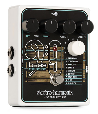 Electro-Harmonix Bass9 Bass Machine BRAND NEW! FREE 2-3 DAY S&H IN U.S.! bass 9