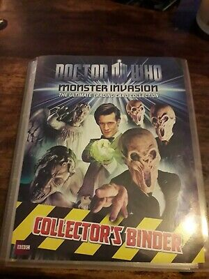 Dr Who MONSTER INVASION SET - EXTREME & ULTIMATE 206 cards and COLLECTORS BINDER