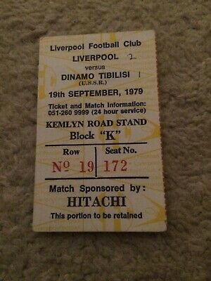 Liverpool V Dinamo Tbilisi USSR European GAME Ticket 1983 Seated