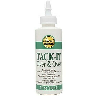 Aleenes Tack it Over and Over Glue for Appliques Crafts Clothing Patch Adhesive