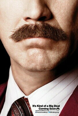 ANCHORMAN DOUBLE SIDED ADVANCE ORIGINAL MOVIE POSTER Will Ferrell rare 27x40