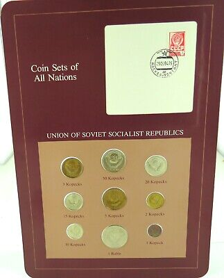 """.1978 Russia / Soviet Union / Ussr """"Coins Of All Nations"""" Choice Unc 9 Coin Set."""