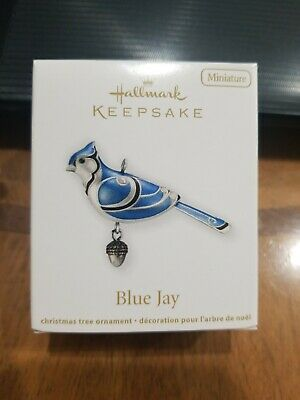 NIB 2012 Hallmark Keepsake Blue Jay Beauty of the Birds Miniature Ornament