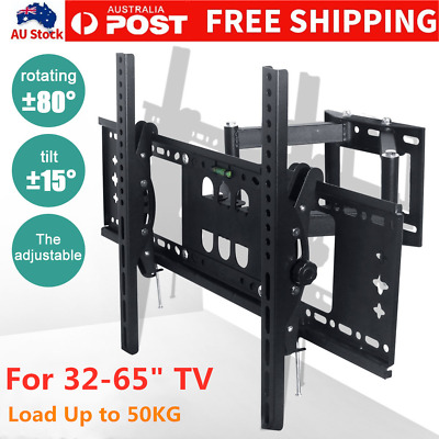 TV Wall Mount Bracket Full Motion Tilt Swivel Pivot 32 40 43 50 55 60 65 Inch AU