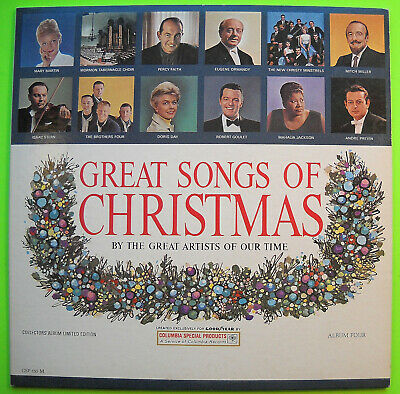 THE GREAT SONGS OF CHRISTMAS Album Four Columbia LP VG Goodyear Premium