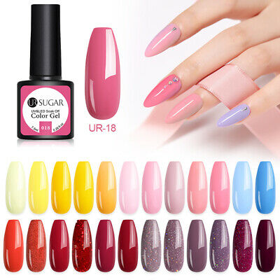 UR SUGAR 62 Colors UV Gel Nail Polish Soak Off Holographicss Gel Varnish 7.5ml