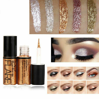 Metallic Shiny Eyeshadow Glitter Liquid Eyeliner Waterproof Makeup Eye Liner Pen