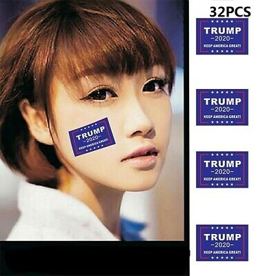 32pcs 2020 President Donald Trump Keep America Great Face Clothes Body Sticker S