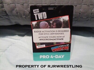 2019 Nycc New York Comic Con 4 Day Pro Badge Ticket On Hand Activated 10/3-10/6