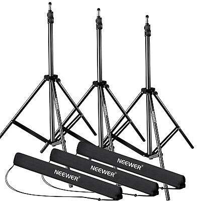 """Neewer 28-83"""" Adjustable Light Stands with Durable Case (3 Packs)"""