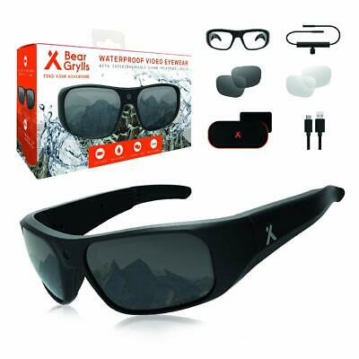 Bear Grylls Waterproof Action Camera Glasses (BG-GLS-1) with Full HD 1080P Built