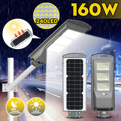 120W/160W 360LED Solar Street Wall Light PIR Motion Sensor Outdoor Garden