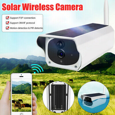 Solar Powered WiFi Wireless 1080P IP Camera IP67 Night Vision Security