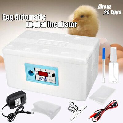 Digital Automatic 20 Egg Incubator Chicken Poultry Hatcher Temperature