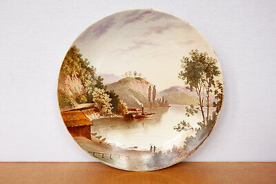 Antique Minton Plate Lake Katrine In The Highlands, Scotland Vgc 10""