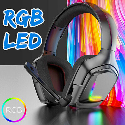 Mic/Led Gaming Headset PC Gamer Stereo Headphones For PC Laptop PS4 Xbox