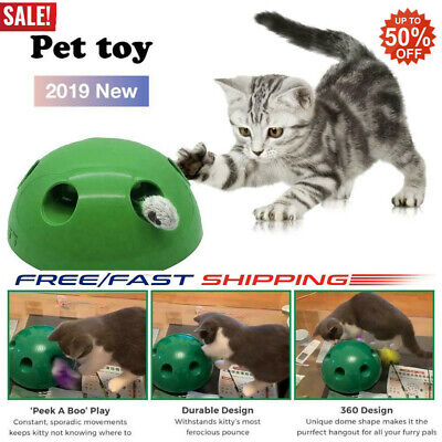 Pop N'Play Interactive Motion Cat Toy Mouse Tease Electronic Pet Toys HOT 50%OFF