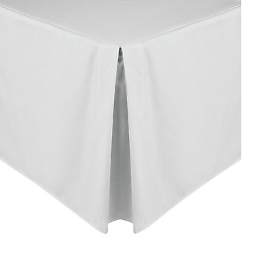 John Lewis Double Centre Pleat Valance Polycotton 39Cm Drop In White