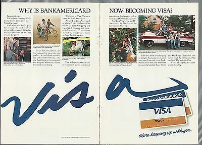 1977 VISA credit card 2-page advertisement, Change from BankAmericard
