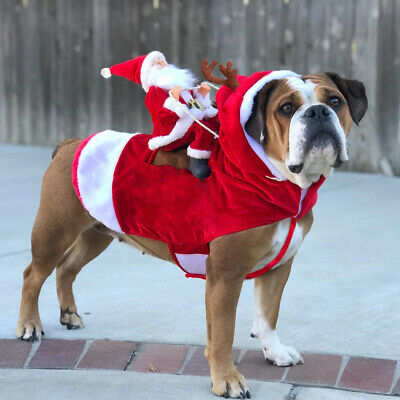2019 Pet Dog Christmas Clothes With Hat for Small and Medium Pets Multiple Sizes