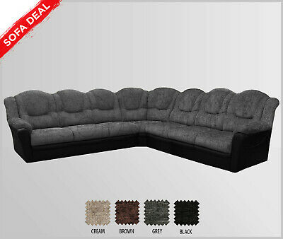 Fine Texas Extra Large Corner Sofa Black Faux Leather 7 Unemploymentrelief Wooden Chair Designs For Living Room Unemploymentrelieforg
