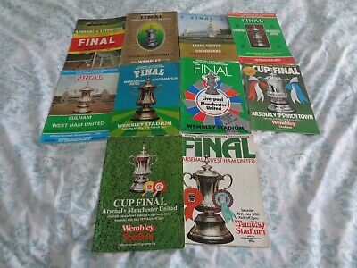 All 10 F.A.Cup Final Programmes 1971 - 1980.FINE COLLECTION!