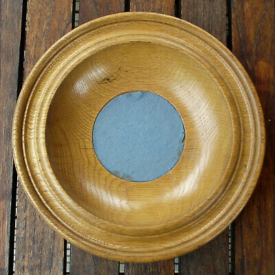 Vintage Antique Turned Oak Offertory Bowl Church Collection Plate Dish #1