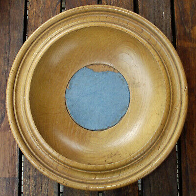 Vintage Antique Turned Oak Offertory Bowl Church Collection Plate Dish #3