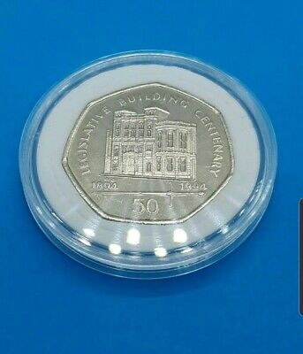 1994 Isle of Man Legislative Building 50p Fifty Pence Coin UNC Uncirculated AA