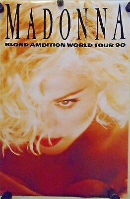 Madonna / Vintage Poster / Blonde Ambition World Tour / Exc. New cond. 21 x 32""
