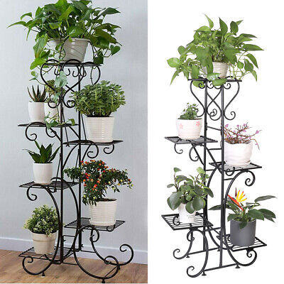 Extra Large Indoor Metal Plant Stand Shelf Anti Rust Iron Garden Flower Rack USA