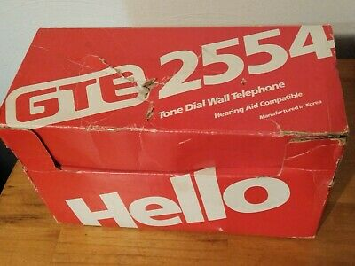 Vintage Ivory GTE 1988 Model 2554 Tabletop Pushbutton Telephone/ NEW IN BOX!!