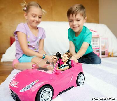NEW Barbie DVX59 Glam Convertible Sports Toy Vehicle For Doll Pink Car Two Seat