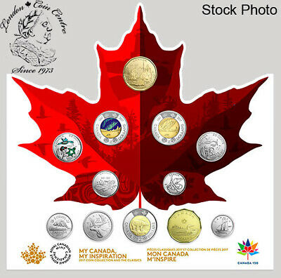 Canada 2017 150 Circulation 12 Coin Collection Includes Glow in Dark Toonie