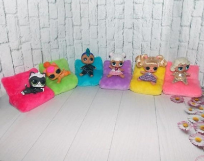 5 Bed + 1 (GIFT) - sofa - armchair- furniture- transformer for LOL Surprise Doll