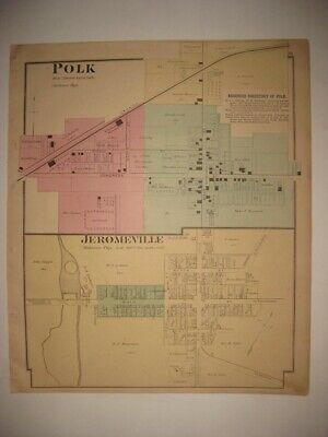 OHIO 1819 OH MAP Fremont Powell Girard Greenville Bryan Morrall Milford HISTORY