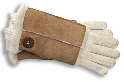 UGG Gloves 3 in 1 Convertible Fingerless Knit Shearling NEW