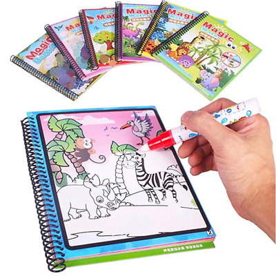Montessori Magic Water Writing Drawing Painting Book Board Pen Doodle Toys Kids