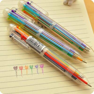 Novelty 6in1 Multicolor Ballpoint Ball Point Pen Students Office Stationery Pens