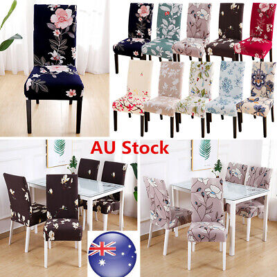 Removable Home Stretch Spandex Chair Covers Slipcovers Seat Cover Dining Decor
